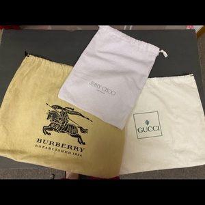 Gucci Jimmy Choo Burberry Dust Bags 1 of Each